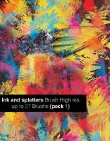 Ink And Splatters Brushes by aliexepress12