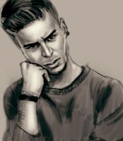 Male Sketch by ByunCaricature
