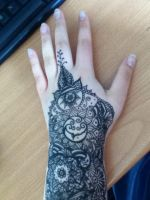 Henna pattern arm 1 by spirit0407