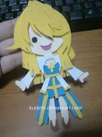 Arc Bishop Paper Doll using Colored Foam Papers by Kudeth