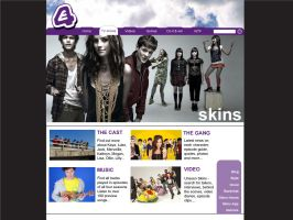 Skins web site redesign by Ivana-B