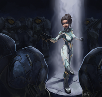 Sarah Kerrigan the Queen of Blades by DarkKodKod