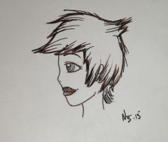 Girl Head by NatJack