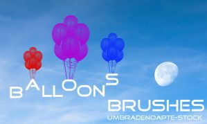 Balloons Brushes by UmbraDeNoapte-Stock