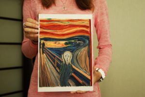 Quilling: The Scream by Edvard Munch by MarieAvril