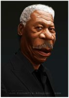 Morgan Freeman-caricature by Zazukudap