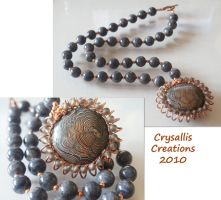 Sienna Rising Necklace by CrysallisCreations