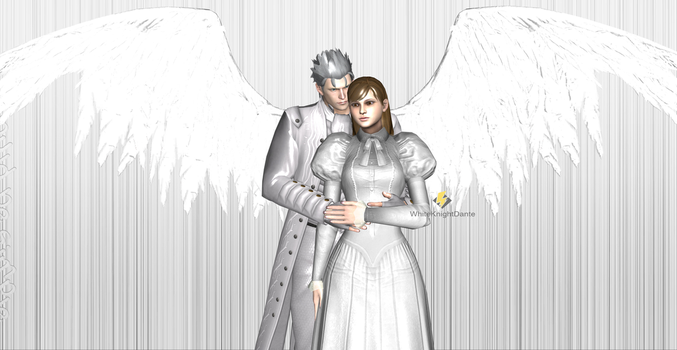 Vergil and his nice wife,Agrippina 2 by WhiteKnightDante