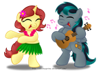 Commission:  HULA PARTY!!! by AleximusPrime