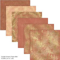 Golden Dreams Scrapbook Paper by Crueltyfre