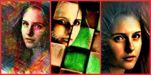 Collage-verssions modern Mona LISA by YOKOKY