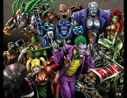 Arkham City Rogues by WiL-Woods