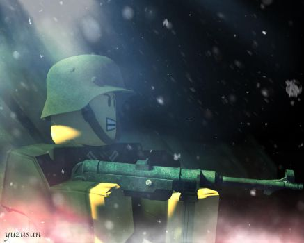 Red Snow: German soldier by yuzusun
