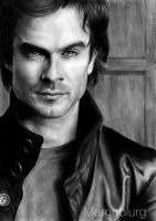 Ian Somerhalder as Damon by margoblurg