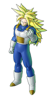 Trunks Saiyan Armor SSJ3 by SpongeBoss