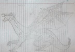 The Lined Paper Dragon by TwilightDragon01