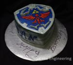 Legend of Zelda: Hylian Shield Cake by cake-engineering