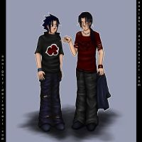 sasuke and itachi by annighty