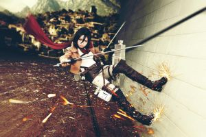 Attack on Titan Mikasa Ackerman Cosplay by Fantalusy
