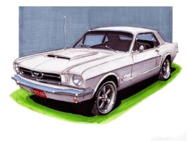1965 Ford Mustang Coupe by Classic-Art-by-JP