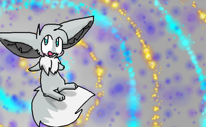 Free To Use Shiny Eevee Background by BlueTheFoxx