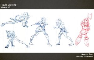 Gesture Drawings - Week 13 by Arashocky