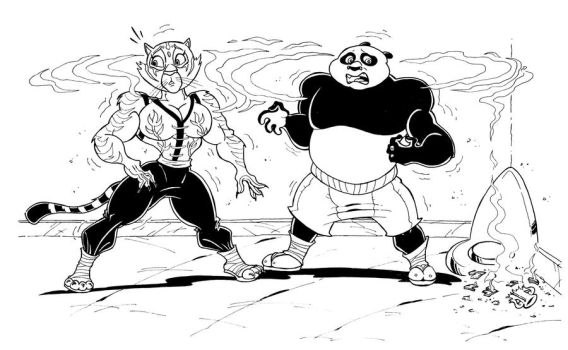 KUNG FU PANDA MUSCLE GROWTH - Commission 4 by Manthomex