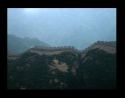 Great wall in the rain by ShanghaiBoo