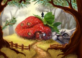 cat-fruit-clock 2 by Trutze