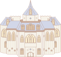 The Wiegenlied Mansion (pixel WIP??) by Arulie