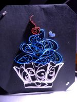 Quilled Cupcake by pcanjjaxdcd