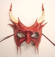 You Little Devil Leather Mask by teonova