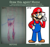 Mario then and now by LazerSofa