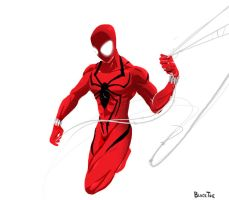 Scarlet Spider costume sketch by BlackToe