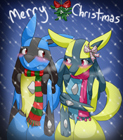 Merry Christmas '11 by LucarioGirl4Ever
