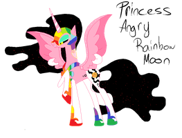 Princess Angry Rainbow Moon by Story-Story