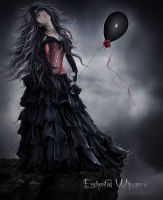 Black Balloon by EnchantedWhispersArt