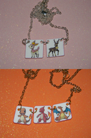 Pick Pokemon Necklace Deerling and Charmander evol by kouweechi