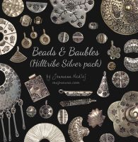 Beads and Baubles - Silver pack by Majnouna