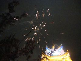 Wedding fireworks by Laura-in-china