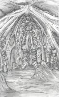 Sacred Tomb Sketch by LordJay