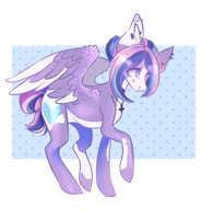 Sky Crystal {commission} by WATERMEL00N3000