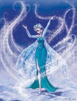 Elsa the snowqueen by carine-cote