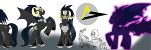 [Old Design] MLP:FIM - Erebus Character Sheet by DemonKaizoku