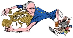 EU immigration policy by Latuff2