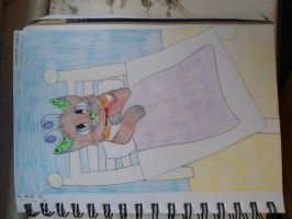 Reskell in bed by Lockian