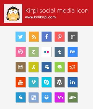 Flat Social Media Icons - Free PSD by umutavci