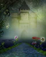 ENCHANTED CASTLE BG STOCK by Moonglowlilly