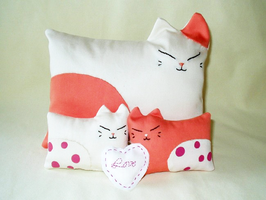 Pink Pillow Meows by KStipetic