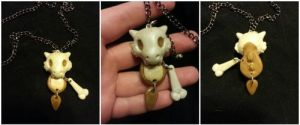 cubone necklace commission by kunoo